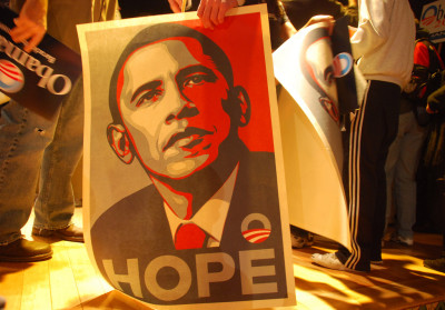 Hope - Obama (Shepard Fairey poster)