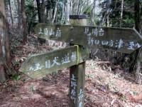 登山口付近の標識