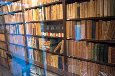 収蔵されていた膨大な図書の一部