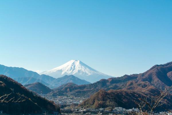 富士山がきれいに見えると幸せな気分に