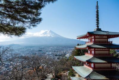 富士浅間神社から