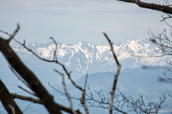 谷川連峰が遠くに見えました