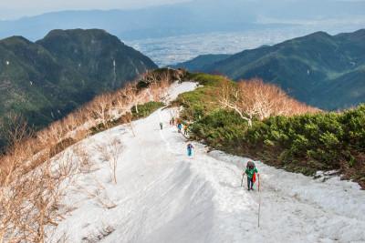 燕岳最後の登り