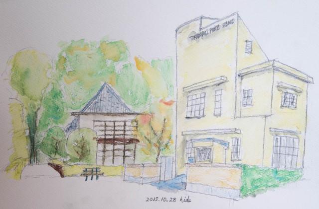 江戸東京たてもの園 2015.10.28 水彩色鉛筆