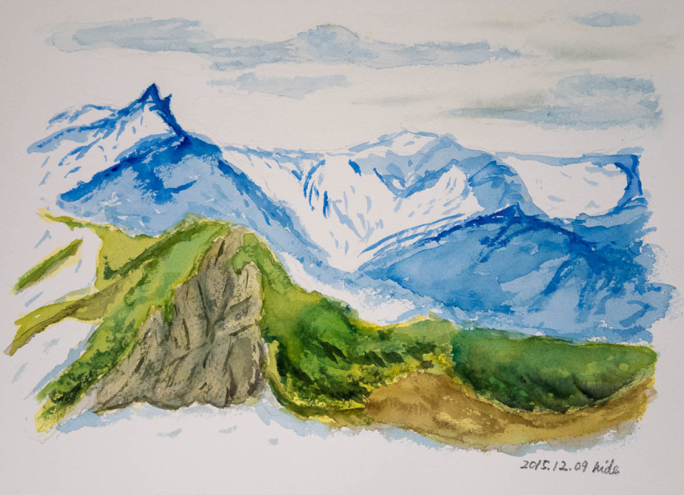 燕岳稜線からの槍ヶ岳