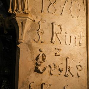 骸骨の文字